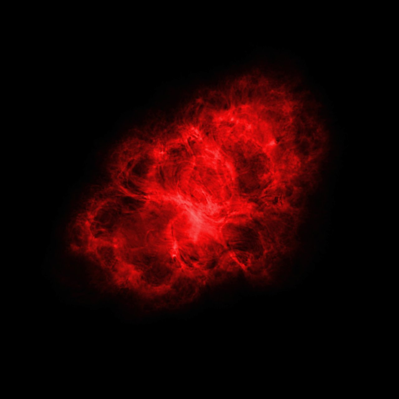 Very Large Array (radio) Image of the Crab Nebula