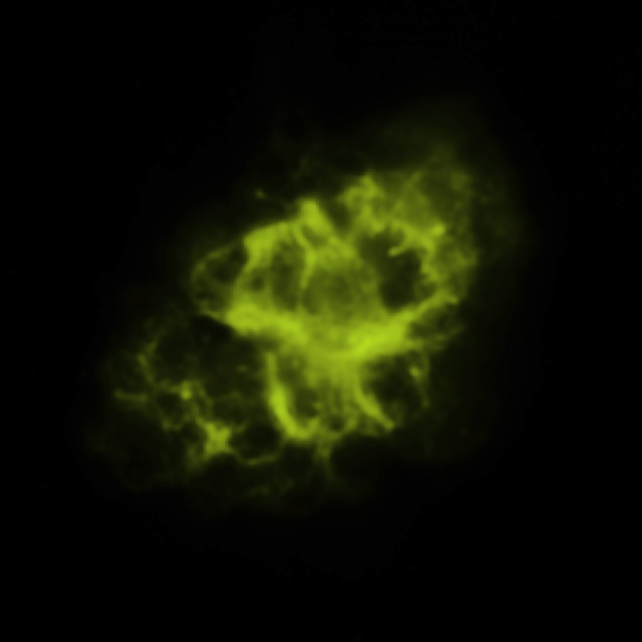 Spitzer Space Telescope (infrared) Image of the Crab Nebula