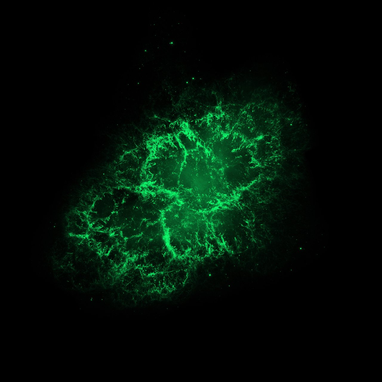 Hubble Space Telescope (visible) Image of the Crab Nebula