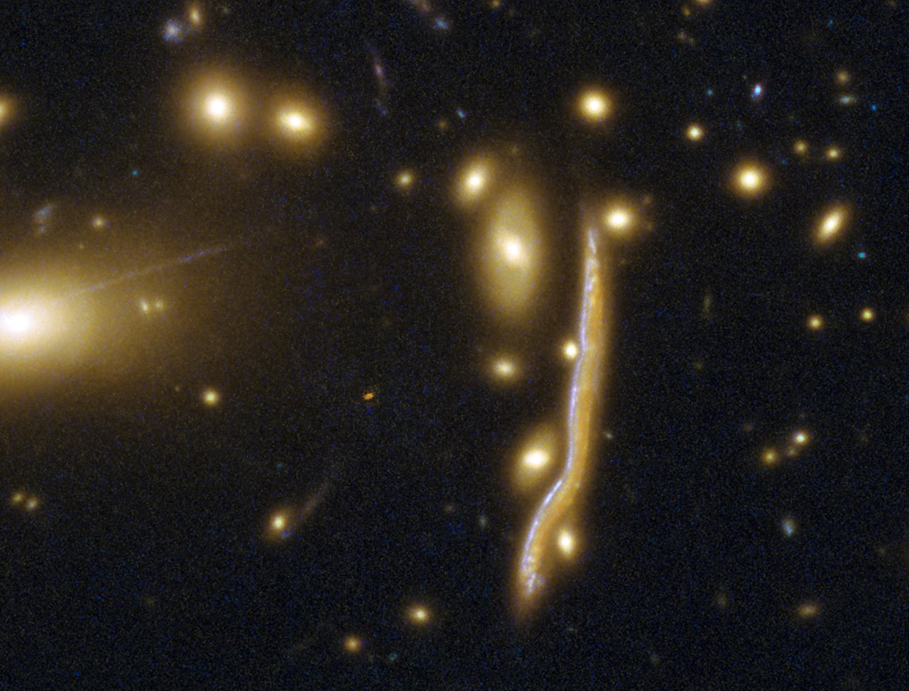 Cosmic snake pregnant with stars