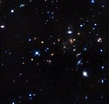 The most remote mature cluster of galaxies yet found