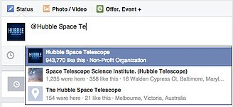 Tagging the Hubble Space Telescope page
