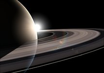 Artist's impression of Saturn's rings