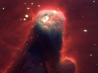 Hubble's newest camera images ghostly star-forming pillar of gas and dust