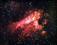 Messier 17, the Omega Nebula (NOAO image)