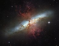 The magnificent starburst galaxy Messier 82