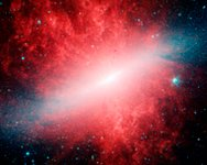 Spitzer image of Messier 82