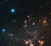 Large and small stars in harmonious coexistence (ground-based image)