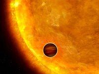 Artist's impression of a transiting extrasolar planet