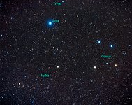 Constellation Corvus [annotated] (ground-based image)