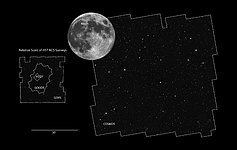 COSMOS field compared to other Hubble surveys