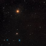 Wide-field image of the ZwCl0024+1652 region (ground-based image)