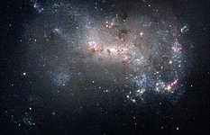 Stellar fireworks are ablaze in galaxy NGC 4449