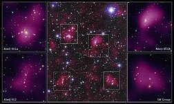 Hubble maps dark matter web in a large galaxy cluster