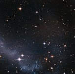Stars in the tail of the Antennae