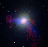 Radio/X-ray/Optical Image of M87
