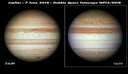 Hubble sees Jupiter change its stripes