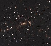Hubble image of galaxy cluster MACS J1206