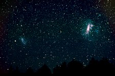 Wide-field image of Magellanic clouds (ground-based image)