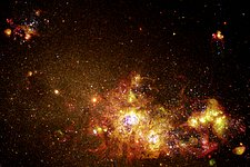 Fireworks of Star Formation Light Up a Galaxy