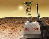 View of Martian Surface Before Dust Storm (artist's impression)