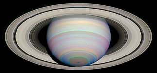 The Slant on Saturn's Rings (Infrared)
