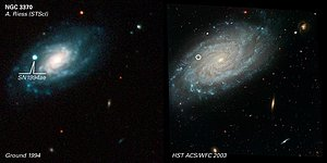 Comparison of Ground and ACS Images of NGC 3370