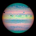 Hubble Spots Rare Triple Eclipse on Jupiter