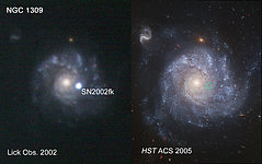 Lick Observatory Ground-Based Image of SN2002fk in NGC 1309