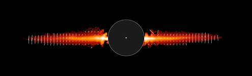 Hubble's Snapshot of Debris Disk Around Young Star - Annotated