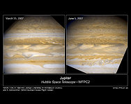 Hubble Catches Jupiter Changing Its Stripes