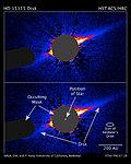 Hubble Reveals Lopsided Debris Disk Around Star