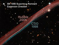 SN 1006 Supernova Remnant Expansion Comparison