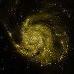 M101 composite image: Hubble data (green component)