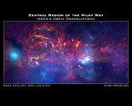 Hubble and other Great Observatories examine the galactic centre region