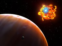 Flaring red dwarf star (artist's impression)