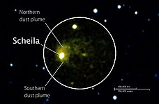 Swift image of asteroid (596) Scheila