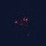 Software-processed NICMOS image of HR 8799 planetary system