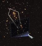 Gravitational lens forms giant arc
