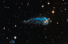 Hubble sees a cosmic caterpillar
