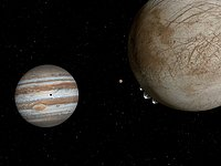 Artist's impression of plumes on Europa