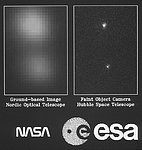 ESA's Faint Object Camera First Images