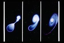 Merger of Two White Dwarf Stars