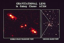 Gravitational Lens in Galaxy Cluster AC 114