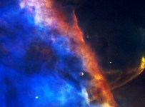 Gas Plume From a Newborn Star