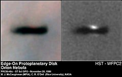 Edge-On Protoplanetary Disc in the Orion Nebula