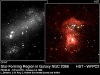 Star-Forming Region in Galaxy NGC 2366