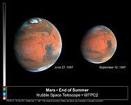 Mars Heading Towards Autumn as Mars Global Surveyor Begins Aerobraking