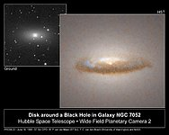 Disk around a Black Hole in Galaxy NGC 7052