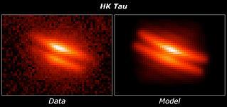 HK Tauri/c model comparison